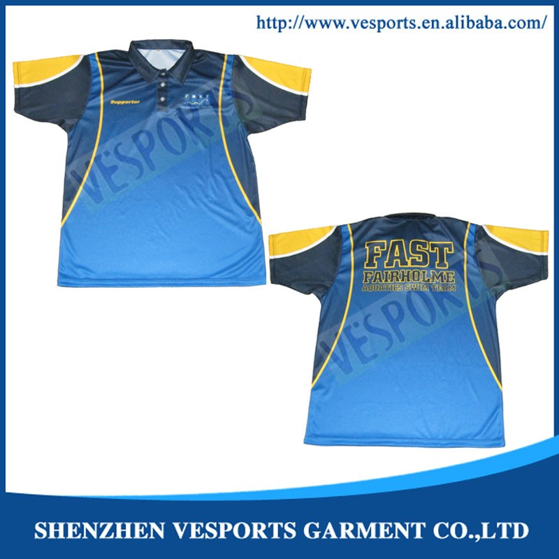 custom made sublimation polo shirts