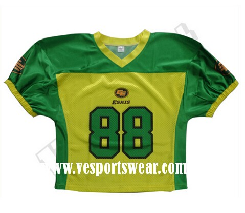 2015 latest sublimation American football wear
