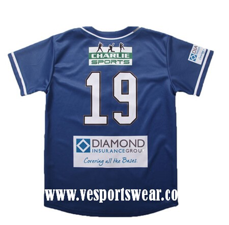 2015 new custom polyester baseball jersey