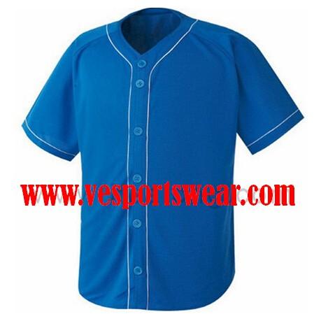 Traditional blue baseball jersey
