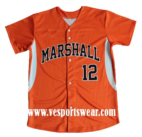 Traditional sublimation baseball jersey
