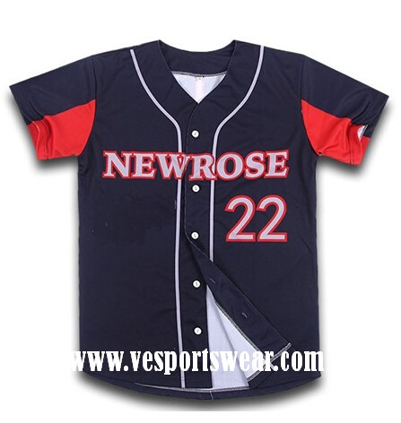 cheap sublimation baseball jersey
