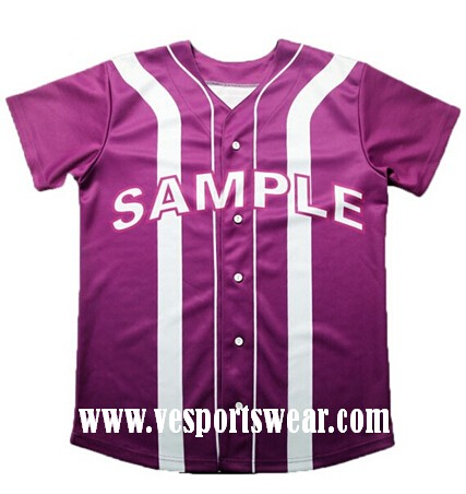 fashion purple baseball jersey