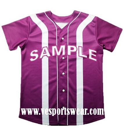 fashion purple baseball jersey