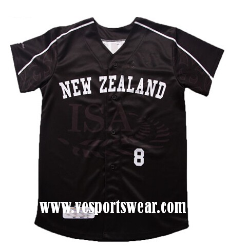 new black baseball jersey
