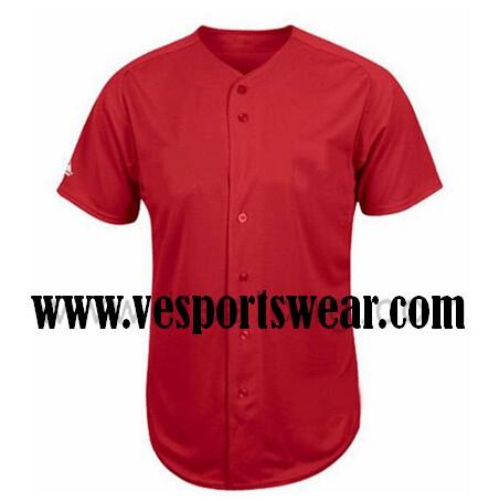new red baseball jersey