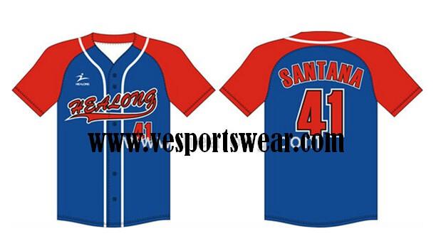 polyester baseball jersey