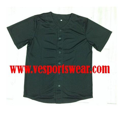 pure black baseball jersey
