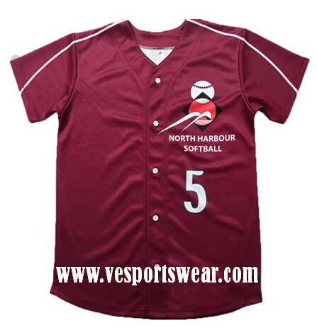 wholesale sublimation baseball jersey
