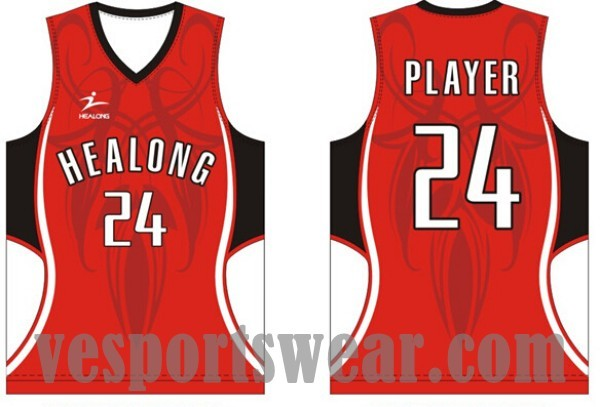 Sublimated basketball jersey pictures