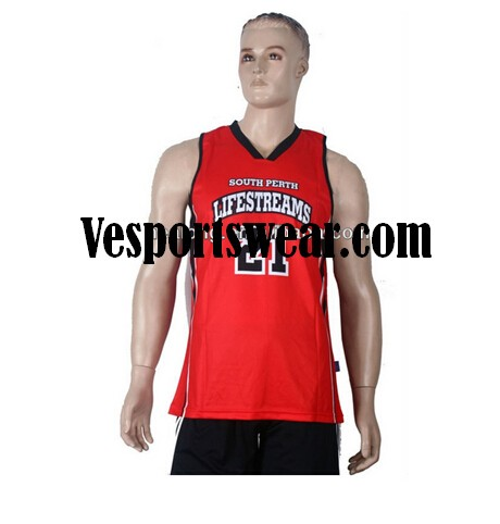 Sublimation customized basketball jersey yellow