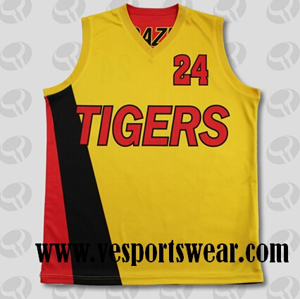 latest sublimation baseketball jersey