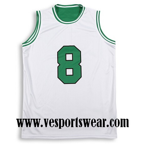 white sublimated baseketball jersey