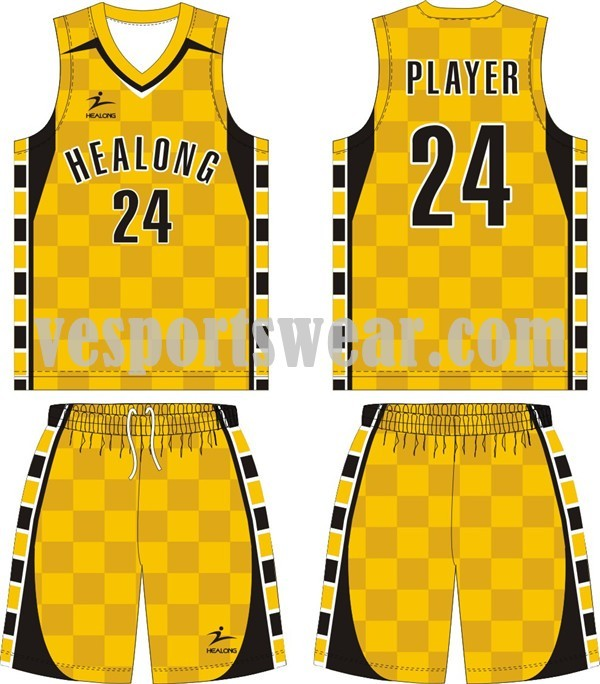 Hot sale 100% polyester basketball jerseys kit
