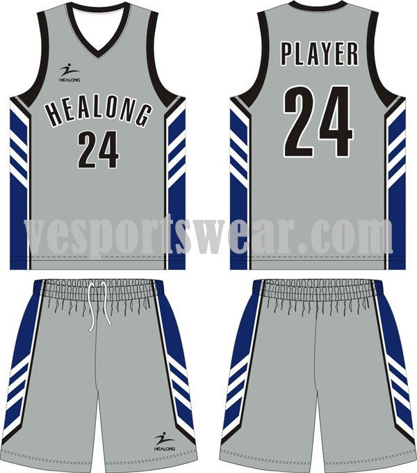New design sublimation basketball jerseys kit