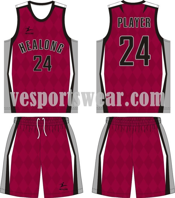 Wholesale high quality basketball jersey kit