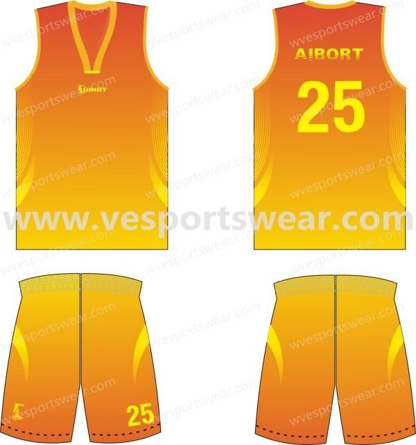 customed fashion basketball kit whole sale