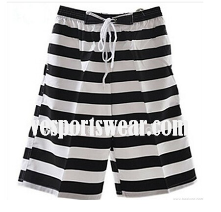 Mens black and white custom beach pants