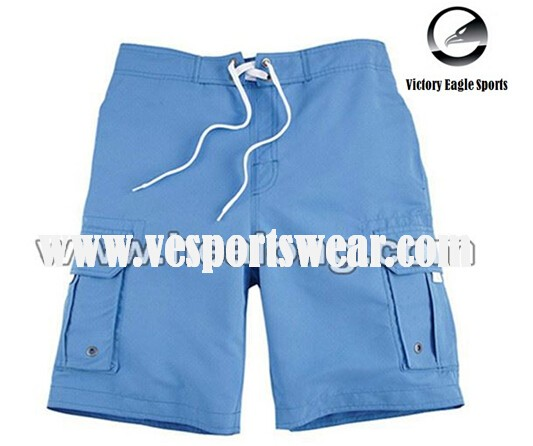 custom blue board shorts sublimation Printing