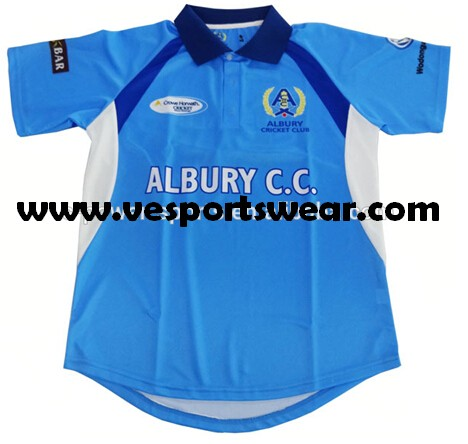 Cheap custom sublimation cricket team jersey