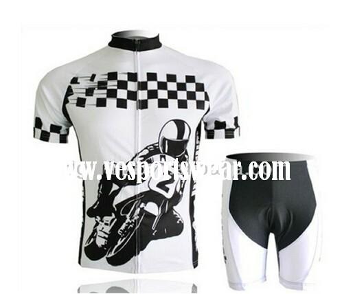 fashion white and black short sleeve cycling sets