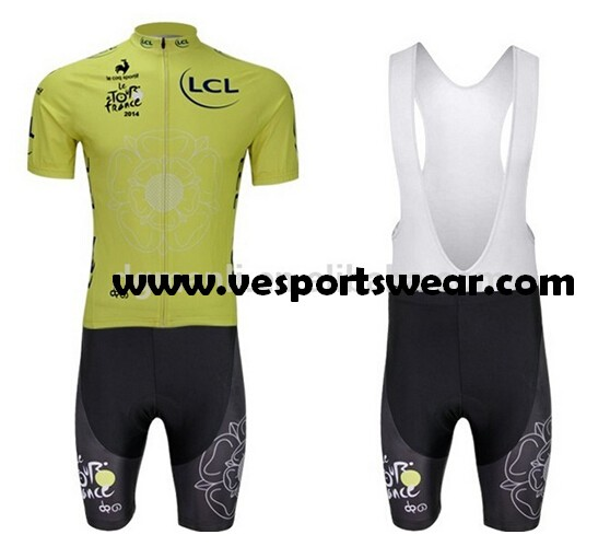 green sublimation short sleeve cycling sets