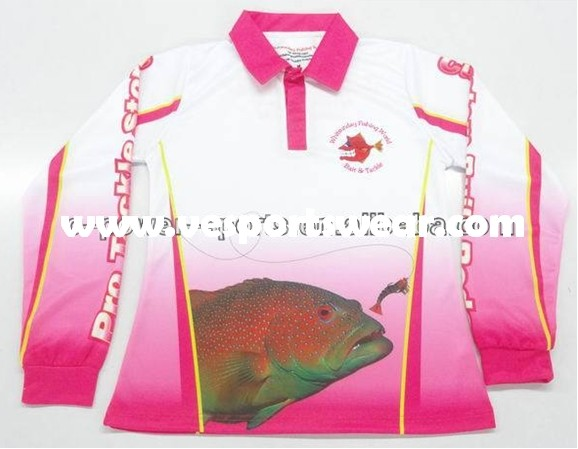 custom sublimated design fishing jerseys