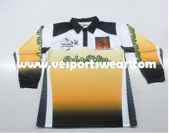 sublimation tournament fishing jerseys