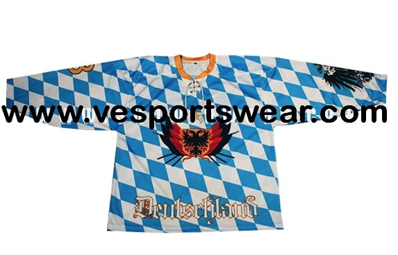 2014 fasion ice hockey jersey with dry fit materia