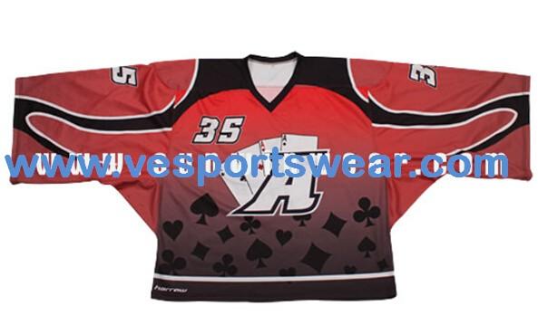2014 latest design polyester ice hockey jersey