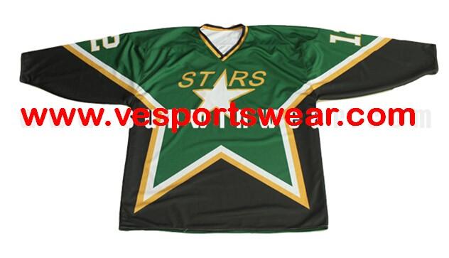 2014 latest free design polyester ice hockey tops