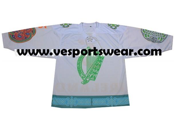 2014 new canada 100% polyester ice hockey jersey