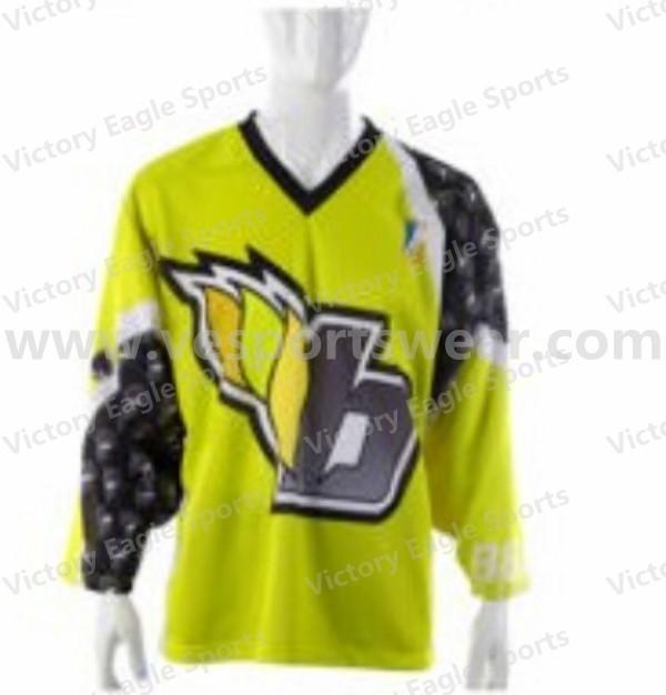 Custom Ice Hockey Jersey 100%Polyester Fabric