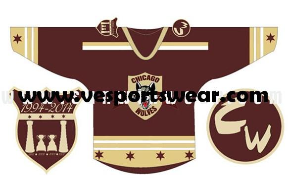 Customized mens black ice hockey jersey