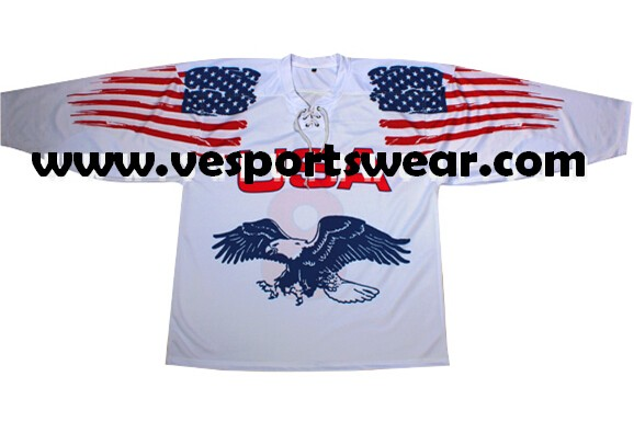 Design your own team ice hockey jersey china