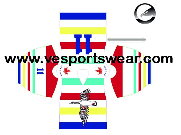 Digital printed mens ice hockey jersey in blue