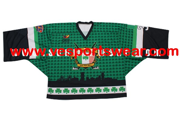 Digital printing ice hockey shirt