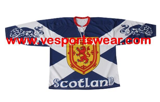 Digital sublimated printed hockey jersey