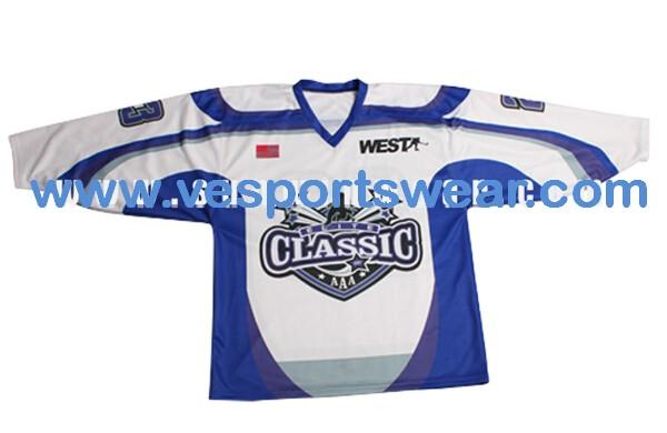 Digitally printing ice hockey shirts