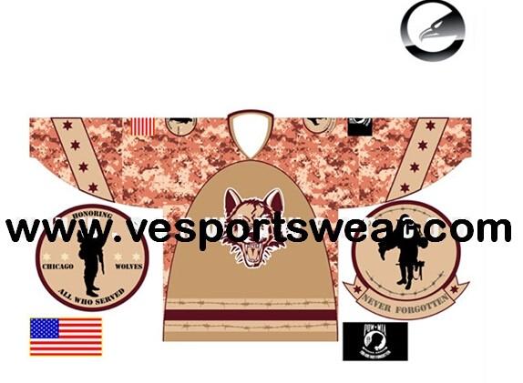 Hot 2014 new sublimated print ice hockey shirts