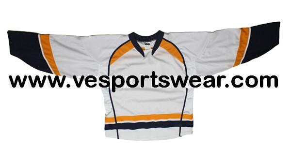 Ice hockey apparel custom made with polyester
