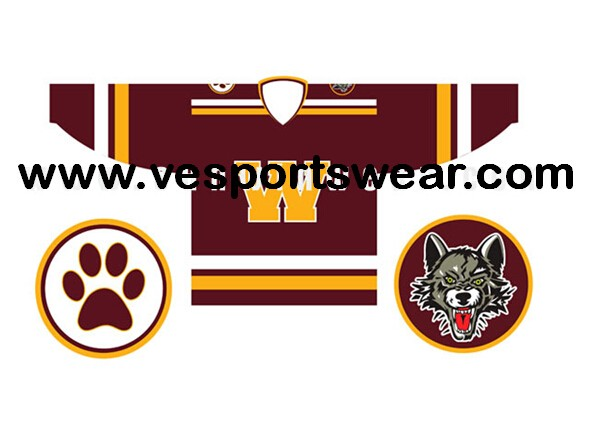 Mens hockey filed jerseys
