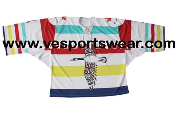Mens hockey jersey with digital logo