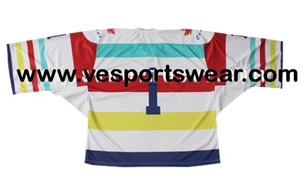 Mens hockey jersey with digital logo