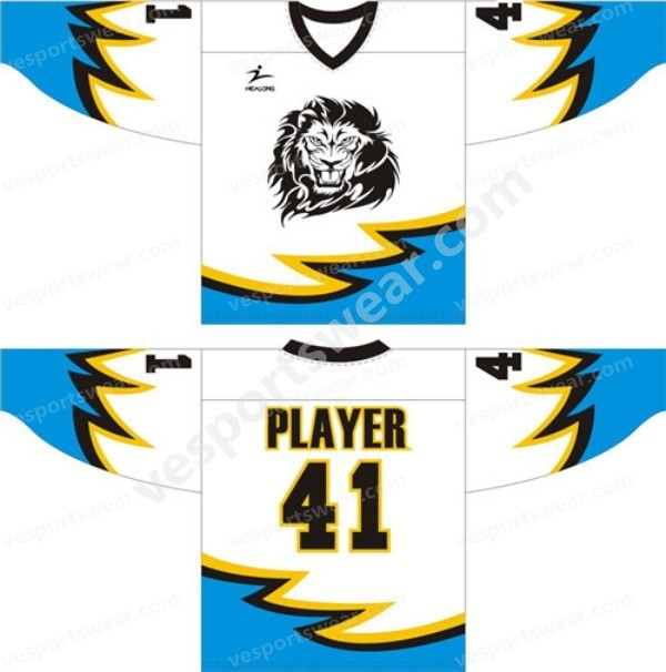 bright color sublimation printed ice hockey jersey