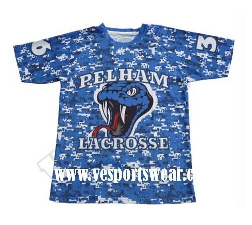 hot sale blue sublimation lacrosse jerseys