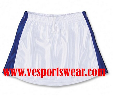 White High Quality Women Lacrosse Skirt
