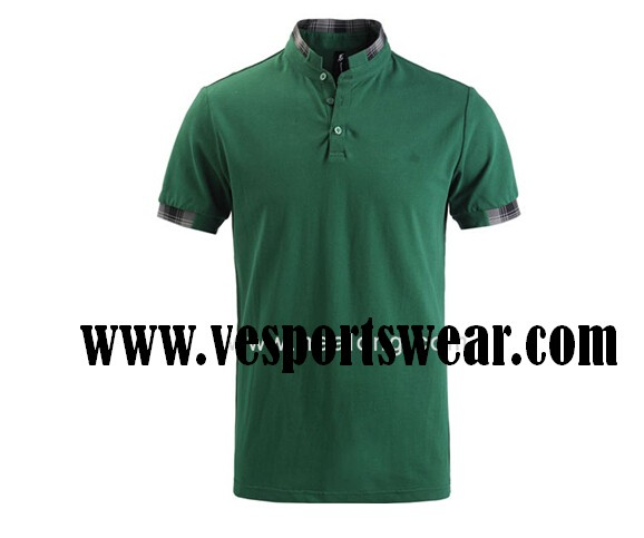 men formal striped short sleeve polo shirts