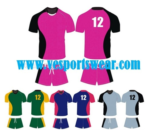 Name brand rugby competition uniforms
