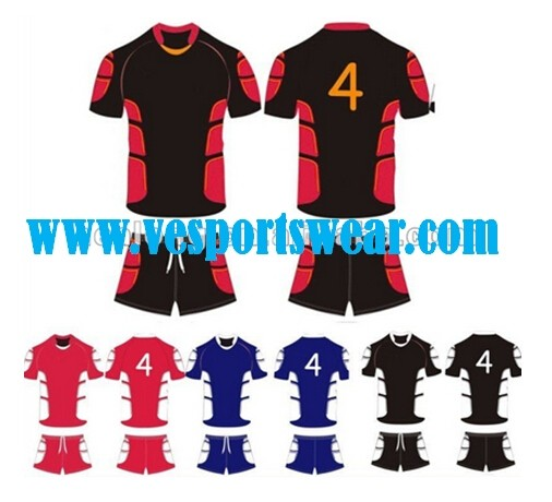 Navy blue rugby uniform
